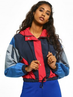 Bellfield Colour Block Metallic Windbreaker Jacket