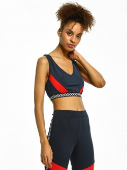 Bellfield Chevron Tape Colour Block Crop Top