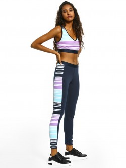 Bellfield Colour Block Stripe Panelled Leggings