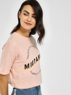 Only Slogan Print Crop T-Shirt