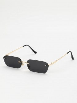 Sneak-a-Peek Rectangular Frame Retro Sunglasses