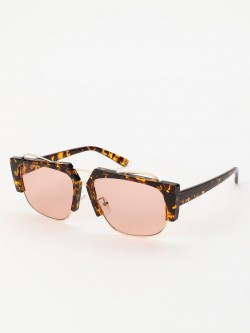 Sneak-a-Peek Leopard Frame Coloured Classic Sunglasses