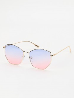 Sneak-a-Peek Ombre Tinted Lens Retro Sunglasses