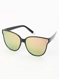 Sneak-a-Peek Mirrored Lens Cateye Sunglasses