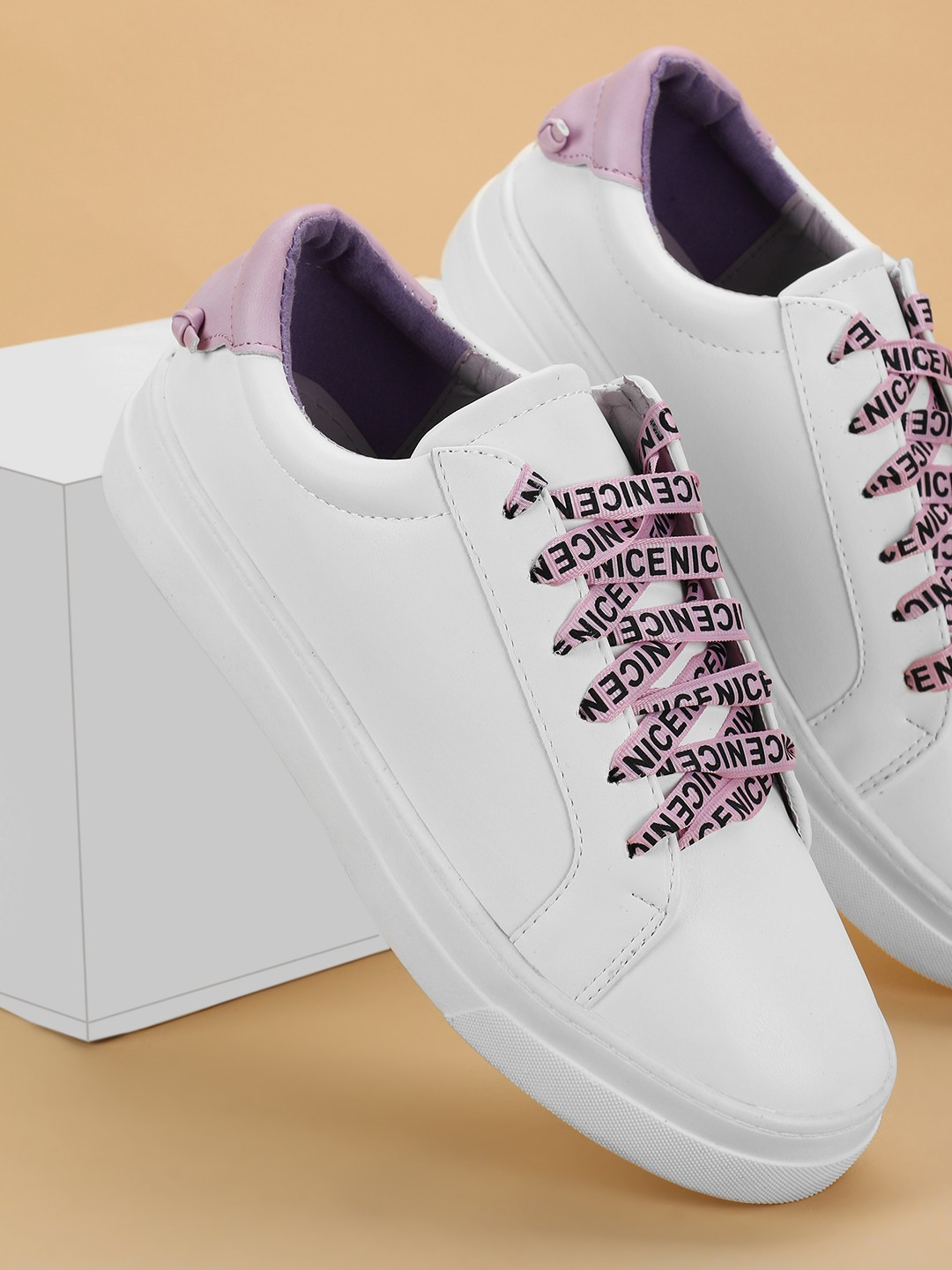 My Foot Couture Purple Printed Lace Up Sneakers 1