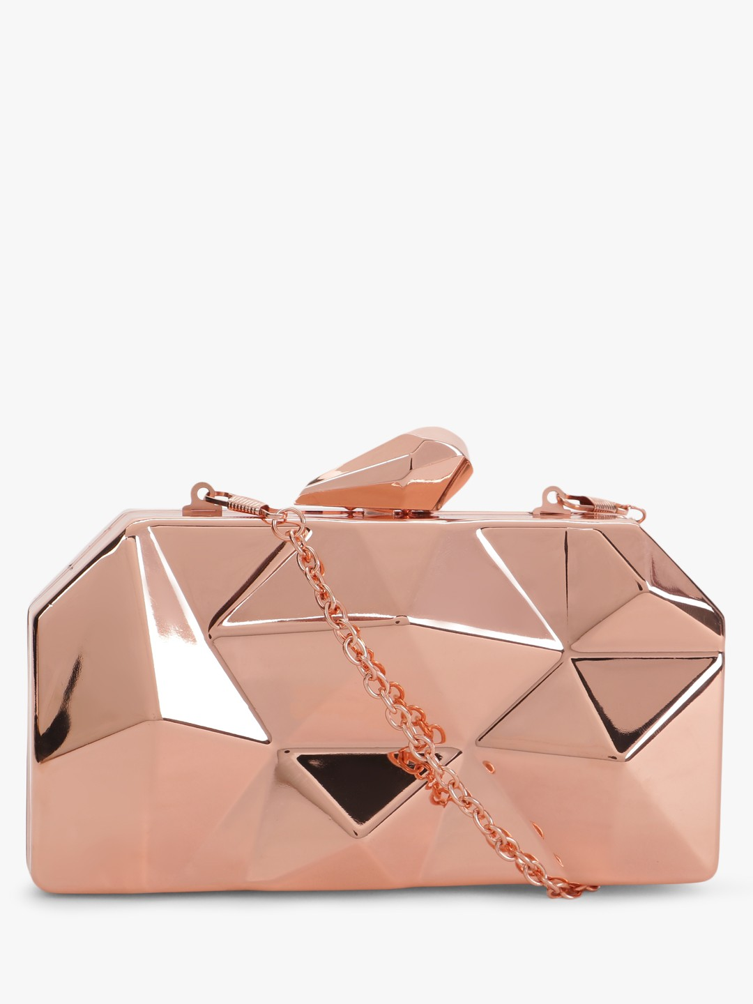 Origami Lily Gold Geometric Box Clutch 1