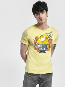 Free Authority Minion Slogan Print T-Shirt