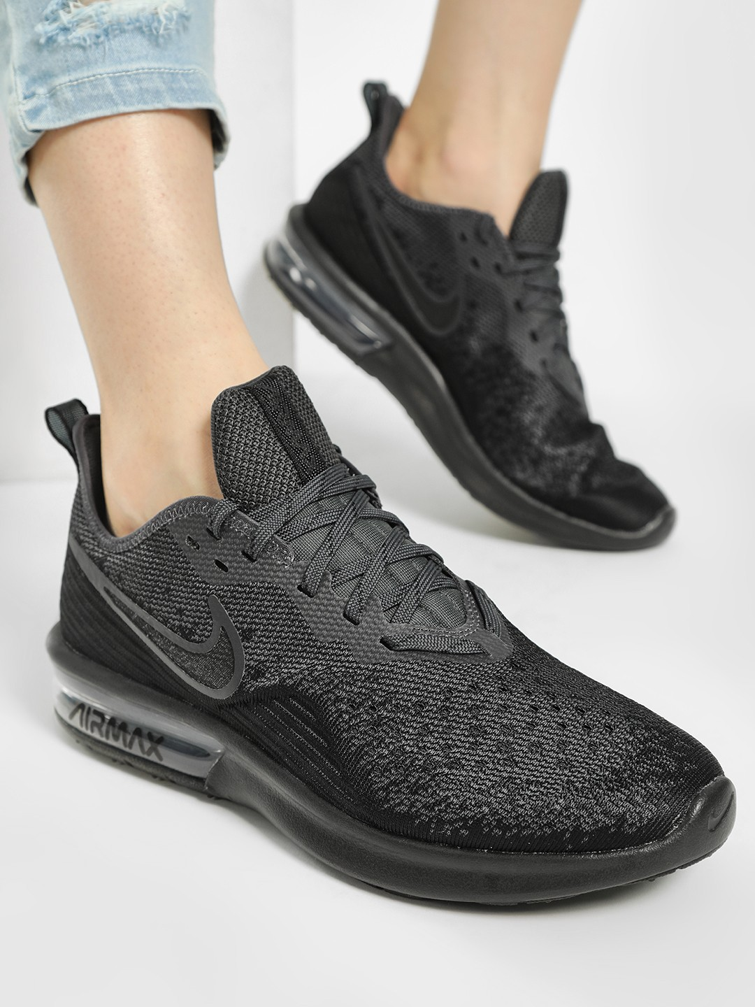 Nike Black Air Max Sequent 4 Shoes 1