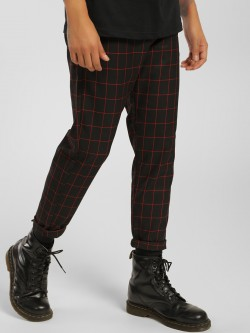 KOOVS Windowpane Check Cropped Trousers