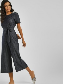PostFold Tassel Detail Tie-Up Jumpsuit