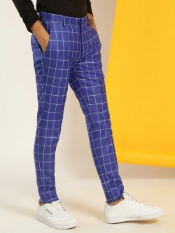 KOOVS Windowpane Check Formal Trousers