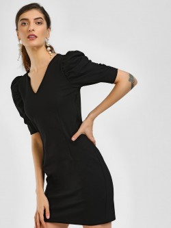 Cover Story Puff Sleeve Bodycon Dress