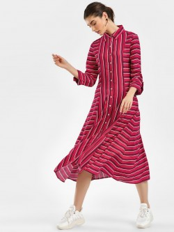 Cover Story Striped Midi Dress