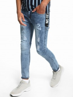 Deezeno Light Stonewash Distressed Skinny Jeans