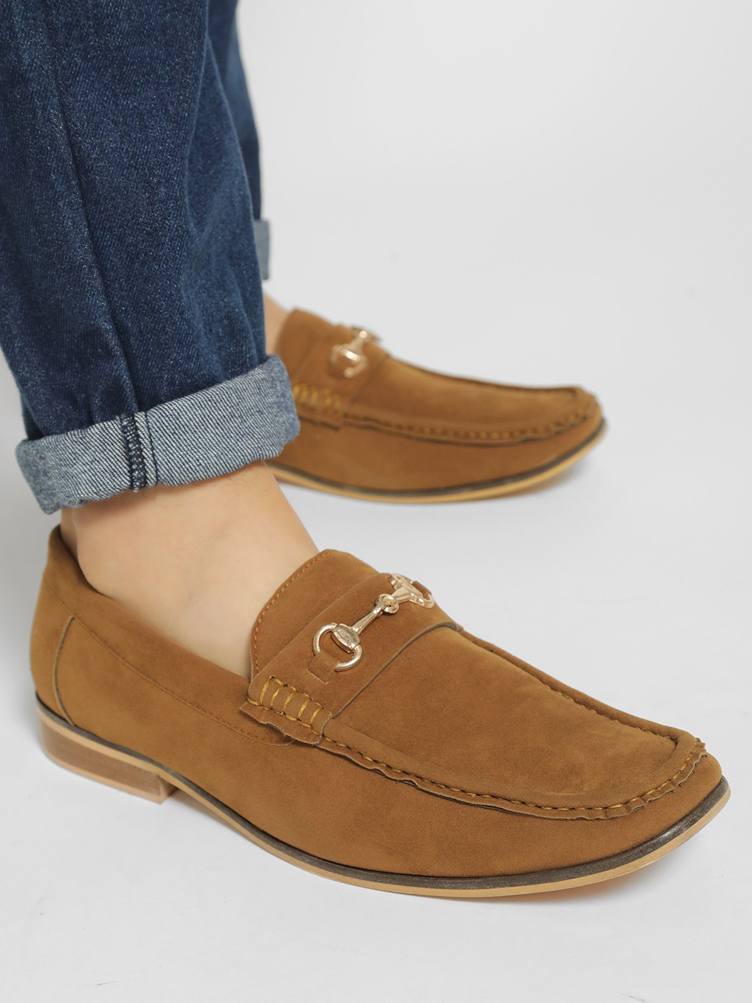 Bolt Of The Good Stuff Brown Suede Horsebit Driver Loafers 1