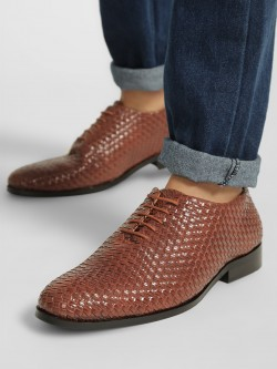 Bolt Of The Good Stuff Weaved Oxford Shoes