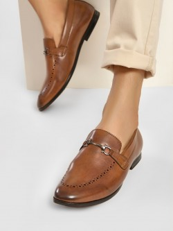 Bolt Of The Good Stuff Punches Detail Horsebit Loafers