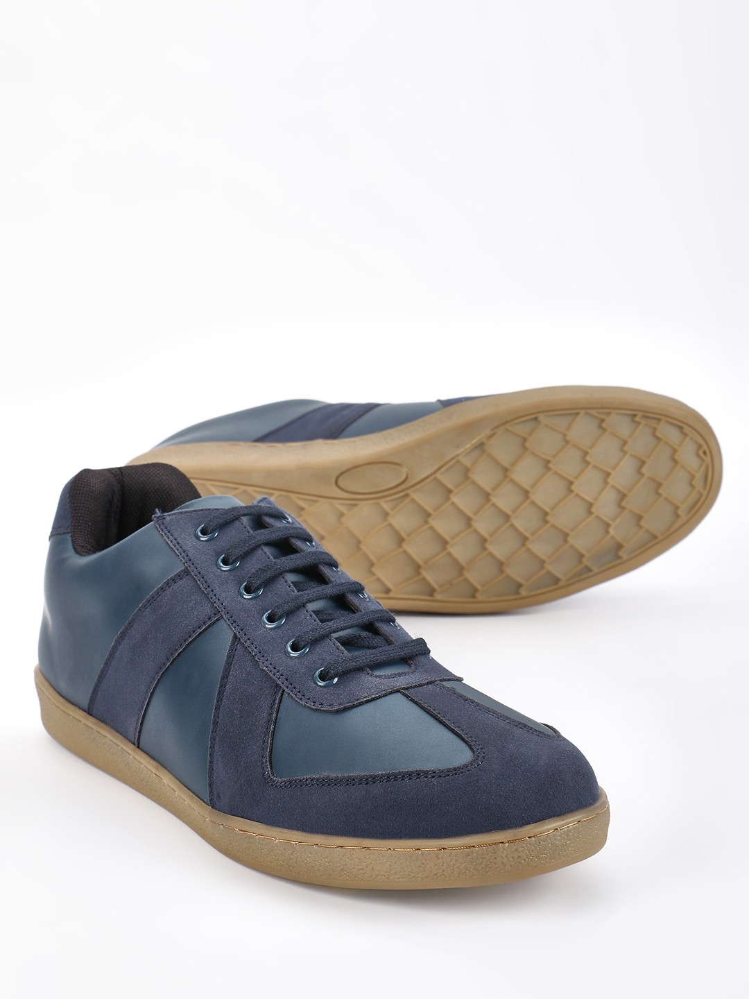 Kindred Blue Suede Panel Gum Sole Sneakers 1