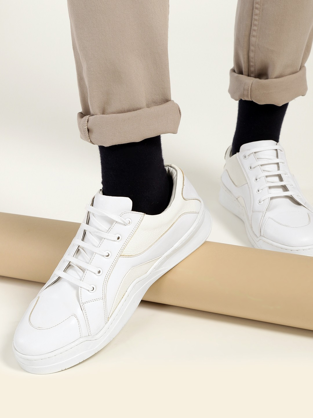 Kindred White Contrast Panel Sneakers 1