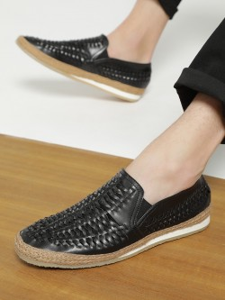 Bolt Of The Good Stuff Weave Panel Espadrille Loafers