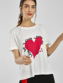 LOVEGEN Placement Slogan Print T-Shirt