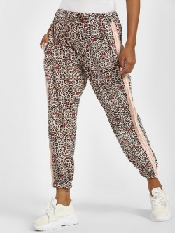 LOVEGEN Leopard Print Side Tape Joggers
