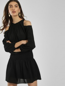 LOVEGEN Cold Shoulder Shift Dress