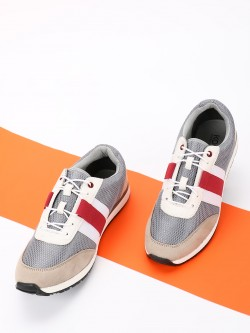 KOOVS Colour Block Suede Panel Sneakers