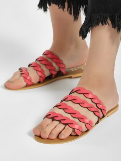 CAi Braided Strap Flat Sandals