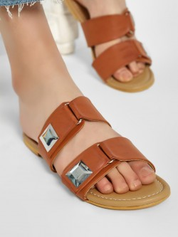 CAi Double Buckle Strap Flat Sandals