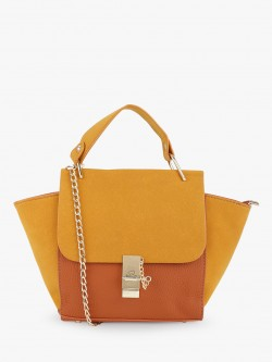 Style Fiesta Colour Block Satchel Bag