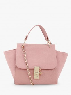 Style Fiesta Two-Tone Satchel Bag