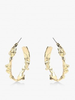 Style Fiesta Gold-Tone Crusted Hoops