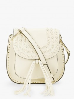 Bessie London Whipstitch Tassel Trim Sling Bag