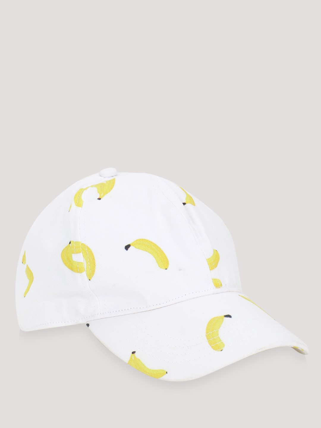 Blueberry White Banana Print Cap 1