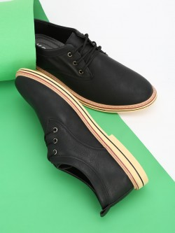 KOOVS Cleated Sole Derby Formal Shoes