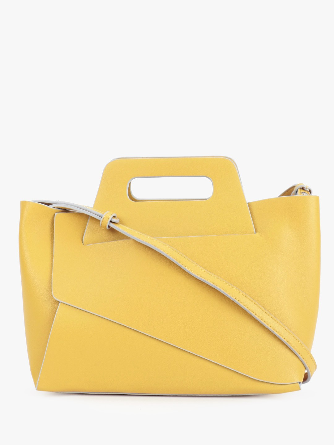 Only Yellow Structured Sling Bag 1