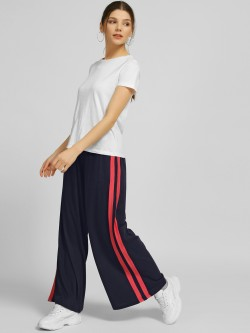 Spring Break Contrast Side Stripe Palazzo Pants