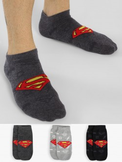 Balenzia Superman Low Ankle Length Socks (Pack Of 3)