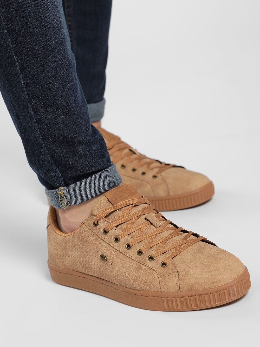 BRITISH KNIGHTS Brown Basic Textured Sneakers 1