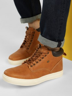 BRITISH KNIGHTS Contrast Sole Mid-Top Sneakers