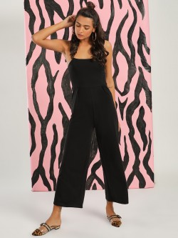 KOOVS Square Neck Strappy Jumpsuit