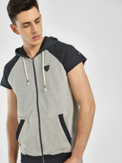 Being Human Textured Knit Zip-Up Hoodie