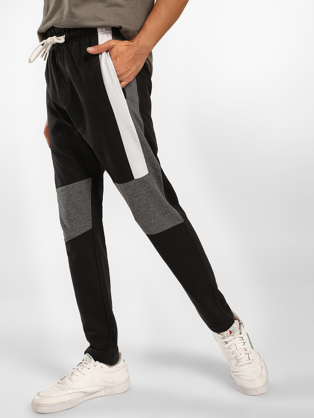 SKULT By Shahid Kapoor Black Side Tape Colour Block Track Pants 1