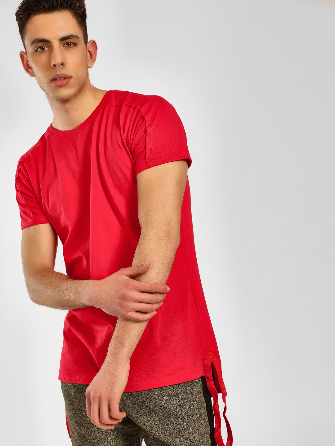 SKULT By Shahid Kapoor Red Tape Detail T-Shirt 1
