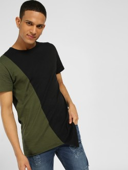 SKULT By Shahid Kapoor Colour Block Asymmetric Hem T-Shirt
