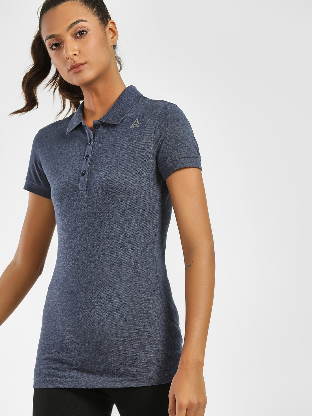 REEBOK Blue Foundation Training Polo T-Shirt 1