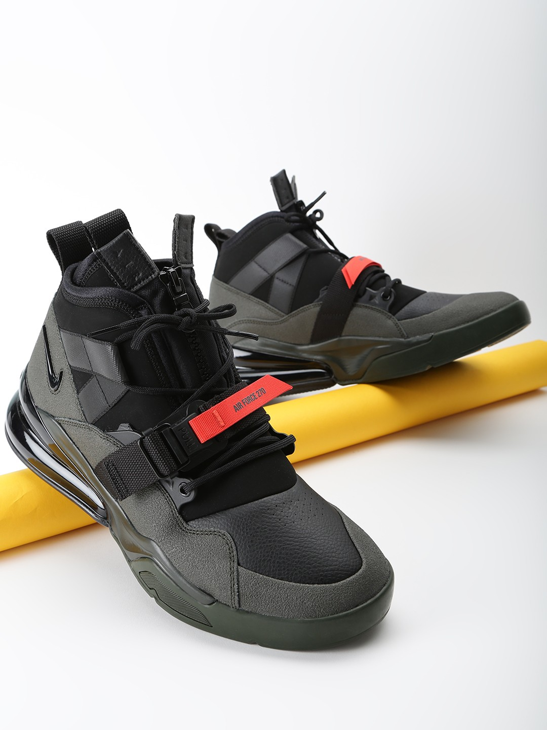 Nike Black Air Force 270 Utility Black Volt Trainers 1