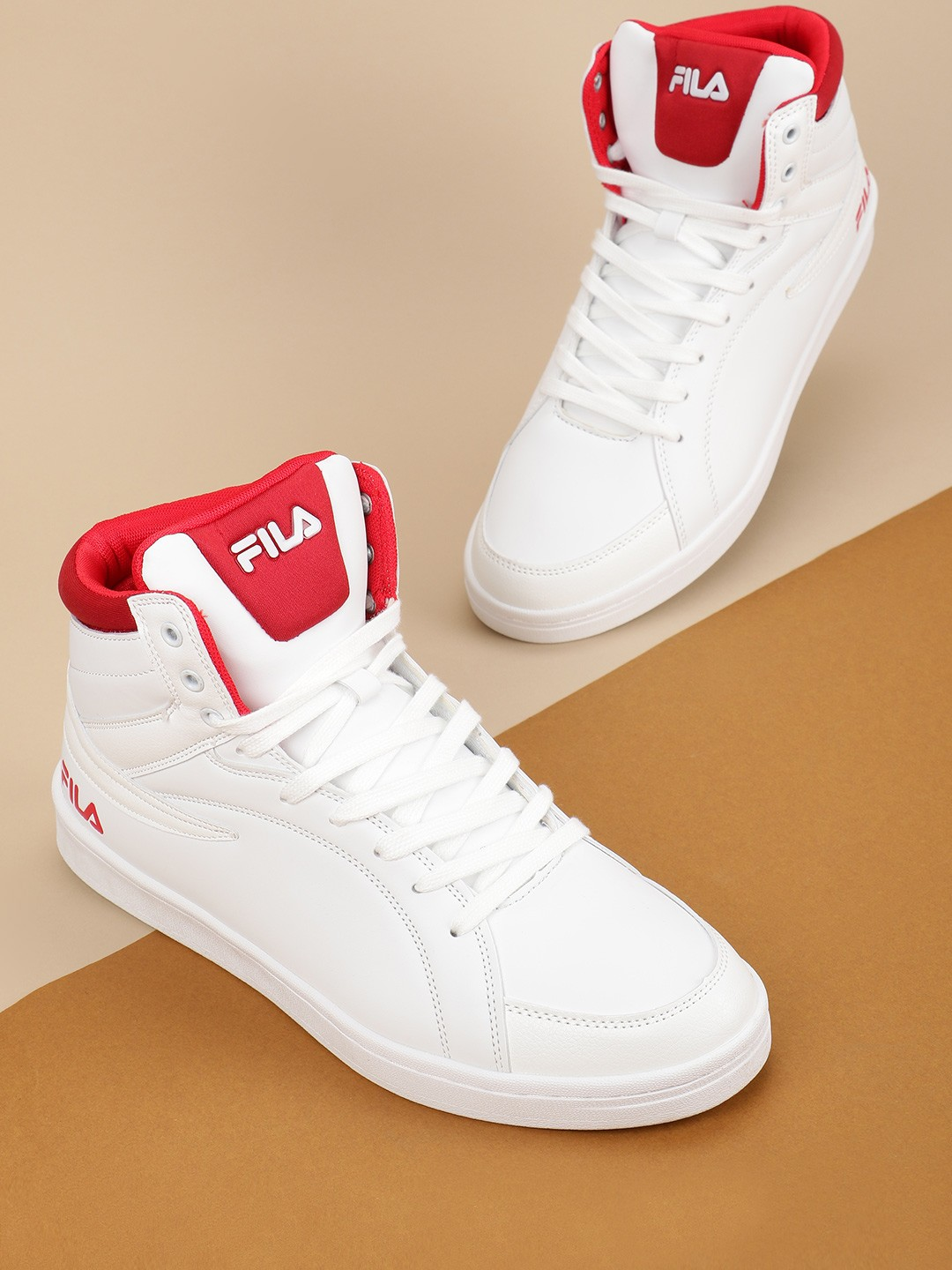 Fila White Anders Hi-Top Sneakers 1