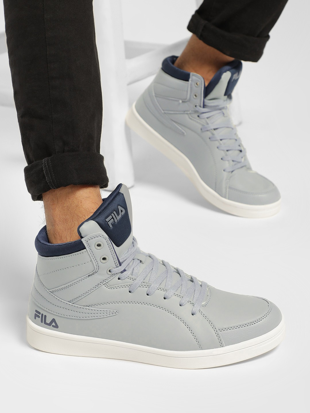 Fila Grey Anders Hi-Top Sneakers 1